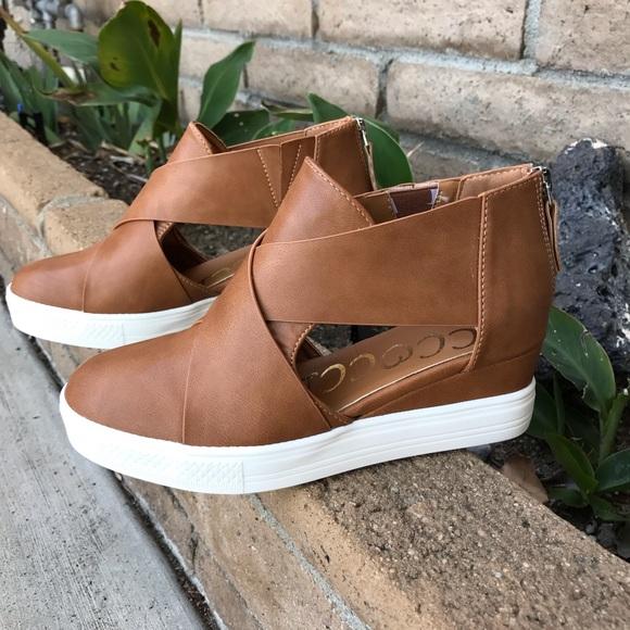 New Arrival Maya Cutout Wedge Sneakers